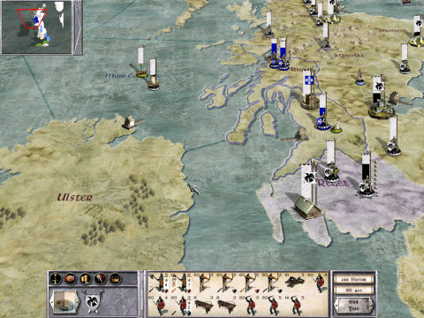 Medieval: Total War - campaign map