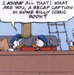 Uncle Scrooge - recap caption lampshade hanging