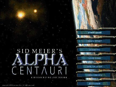 Sid Meier's Alpha Centauri - title