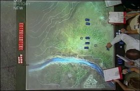 Time Commanders - overhead view of the map